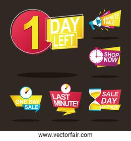 bundle of six sale countdown badges