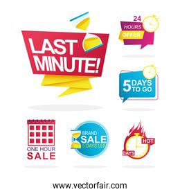 bundle of 6 sale countdown badges