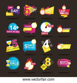 bundle of 16 sale countdown badges