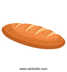 bread baguette of bakery isolated style icon vector design