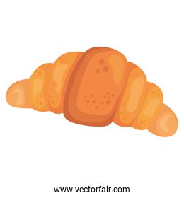 bread croissant of bakery isolated style icon vector design