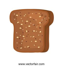 toast wholemeal bread sliced icon