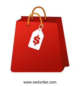 shopping bag commercial with price tag