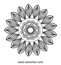 monochrome ethnic mandala decoration icon