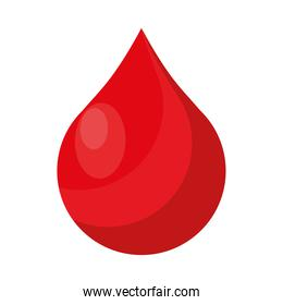blood drop donation isolated icon