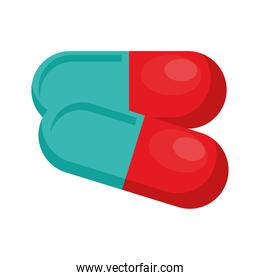 capsules medical drugs isolated icon