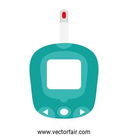 glucometer test device isolated icon
