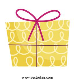 yellow gift box decoration and celebration icon