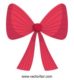 merry christmas red gift bow decoration and celebration icon
