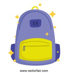 back to school, backpack supply cartoon icon