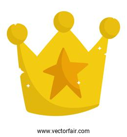 golden crown star jewelry monarchy cartoon icon