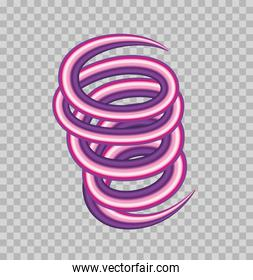 purple color spiral flow poster icon