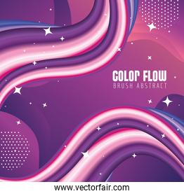 purple color flow poster and lettering in purple background