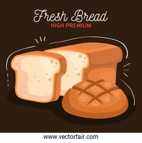 breads of bakery isolated style icon vector design