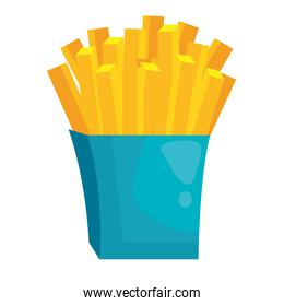 french fries icon vector design