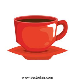 red coffee cup vector design