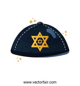 jewish hat with star hanukkah celebration traditional icon