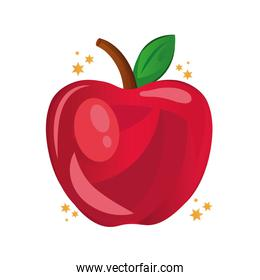 apple fresh fruit isolated icon