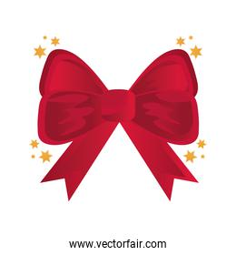 red bow ribbon decoration icon