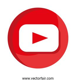 youtube social media logo flat style icon