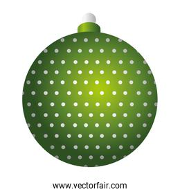 merry christmas green ball decoration dotted