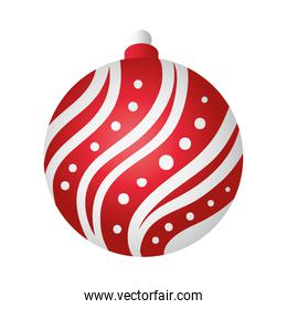 merry christmas ball red and white decoration