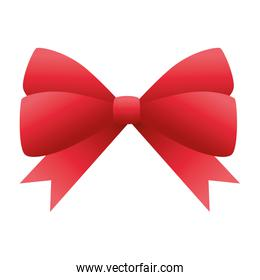 red ribbon bow decorative icon