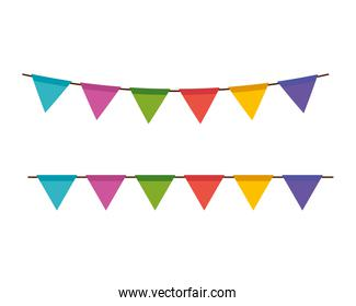 garlands party colors decoration hanging
