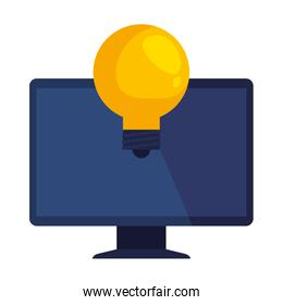 computer device with bulb light