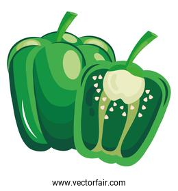 fresh vegetable greenpepper healthy food icon