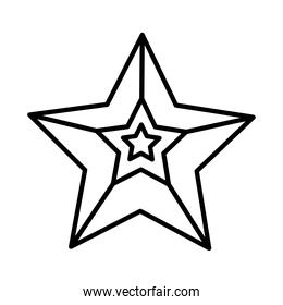 merry christmas star line style icon