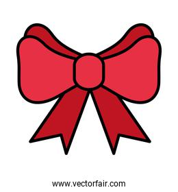 happy merry christmas bow line and fill style icon