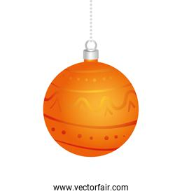 happy merry christmas golden ball decoration