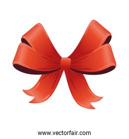 happy merry christmas red ribbon