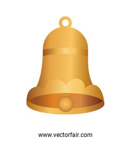 golden christmas bell decorative icon