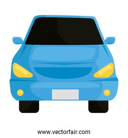 blue car vehicle color front isolated icon