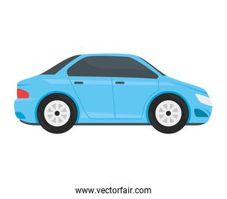 blue car vehicle color isolated icon