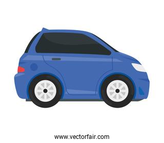 purple car vehicle color isolated icon