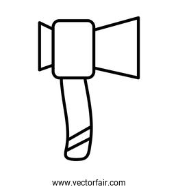ax camping tool line style icon