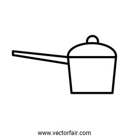 camping pot utensil line style icon