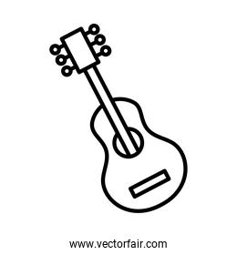 guitar musical instrument line style icon