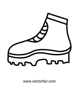 camping boot line style icon