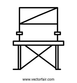 folding chair line style icon
