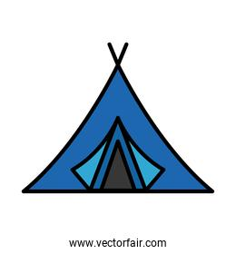 camping tent tool line and fill style