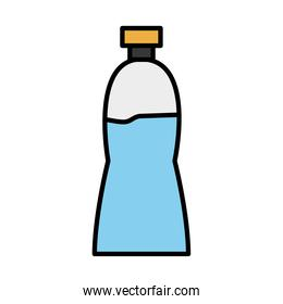 water bottle line and fill style icon