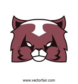 cat head animal emblem icon