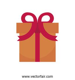 gift box present flat style icon