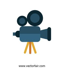 video camera device flat style icon