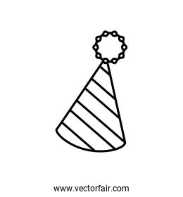 party hat cone line style icon