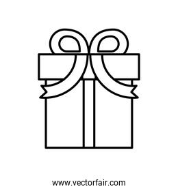 gift box present line style icon